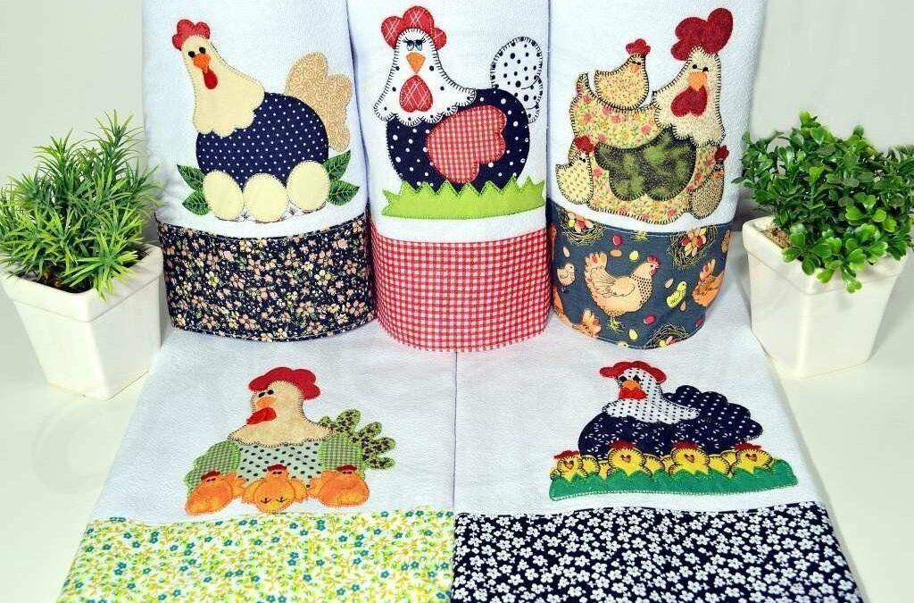 Pano de prato bordado e decorado: 38 peças para sua cozinha