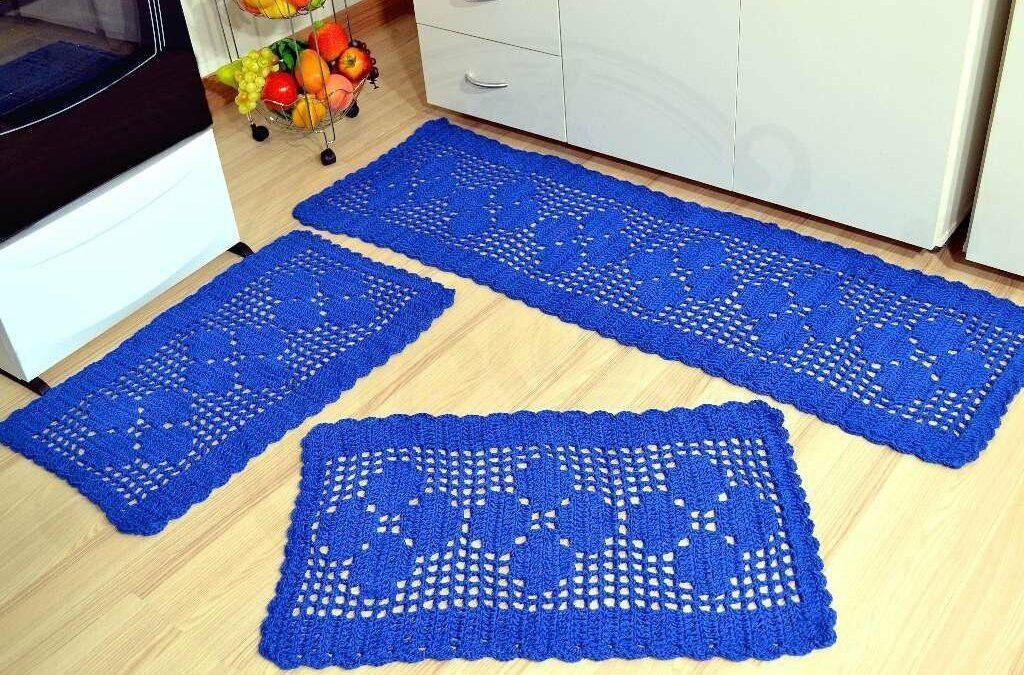 14 modelos de tapete de crochê retangular espetaculares para sua casa